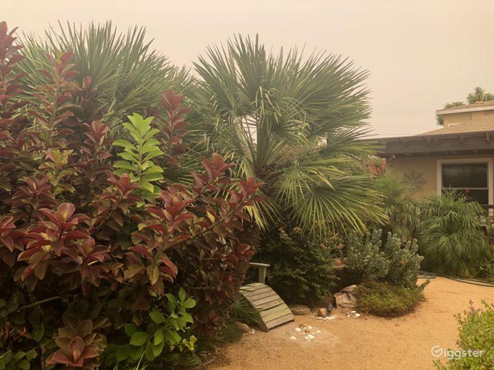 Lush front yard