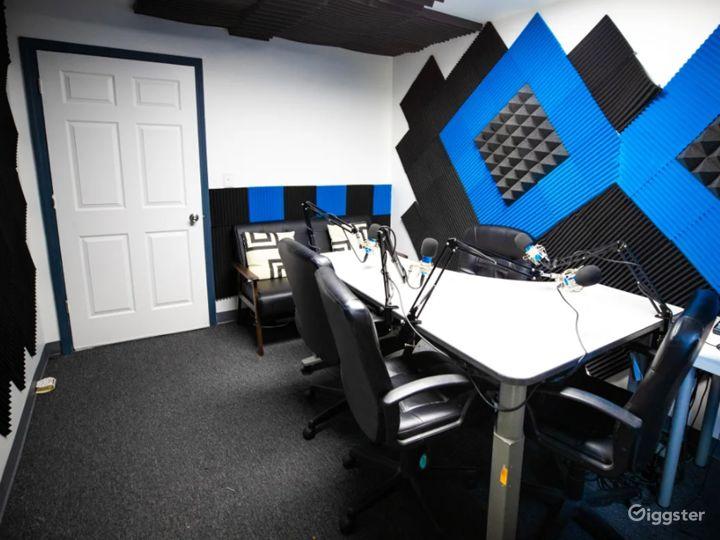 Black and Blue Podcast Recording Studio Photo 2