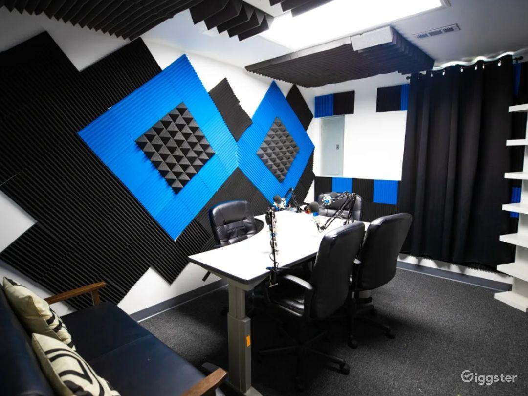 Black and Blue Podcast Recording Studio Photo 1