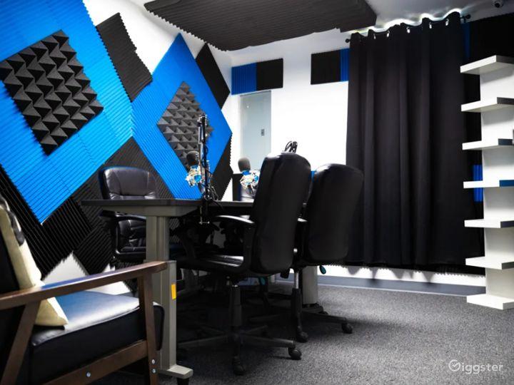 Black and Blue Podcast Recording Studio Photo 5