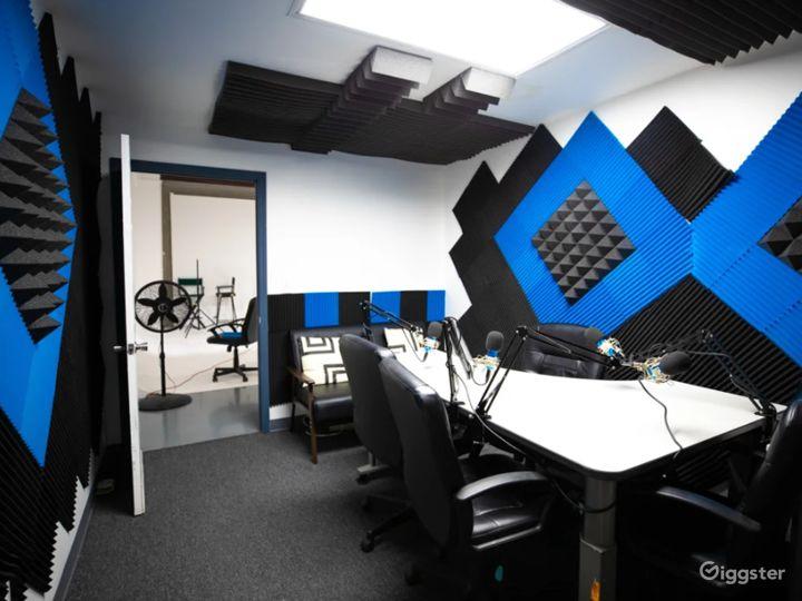 Black and Blue Podcast Recording Studio Photo 3