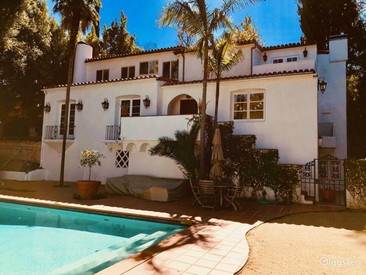 Spanish Revival Celebrity Villa in Beverly Hills