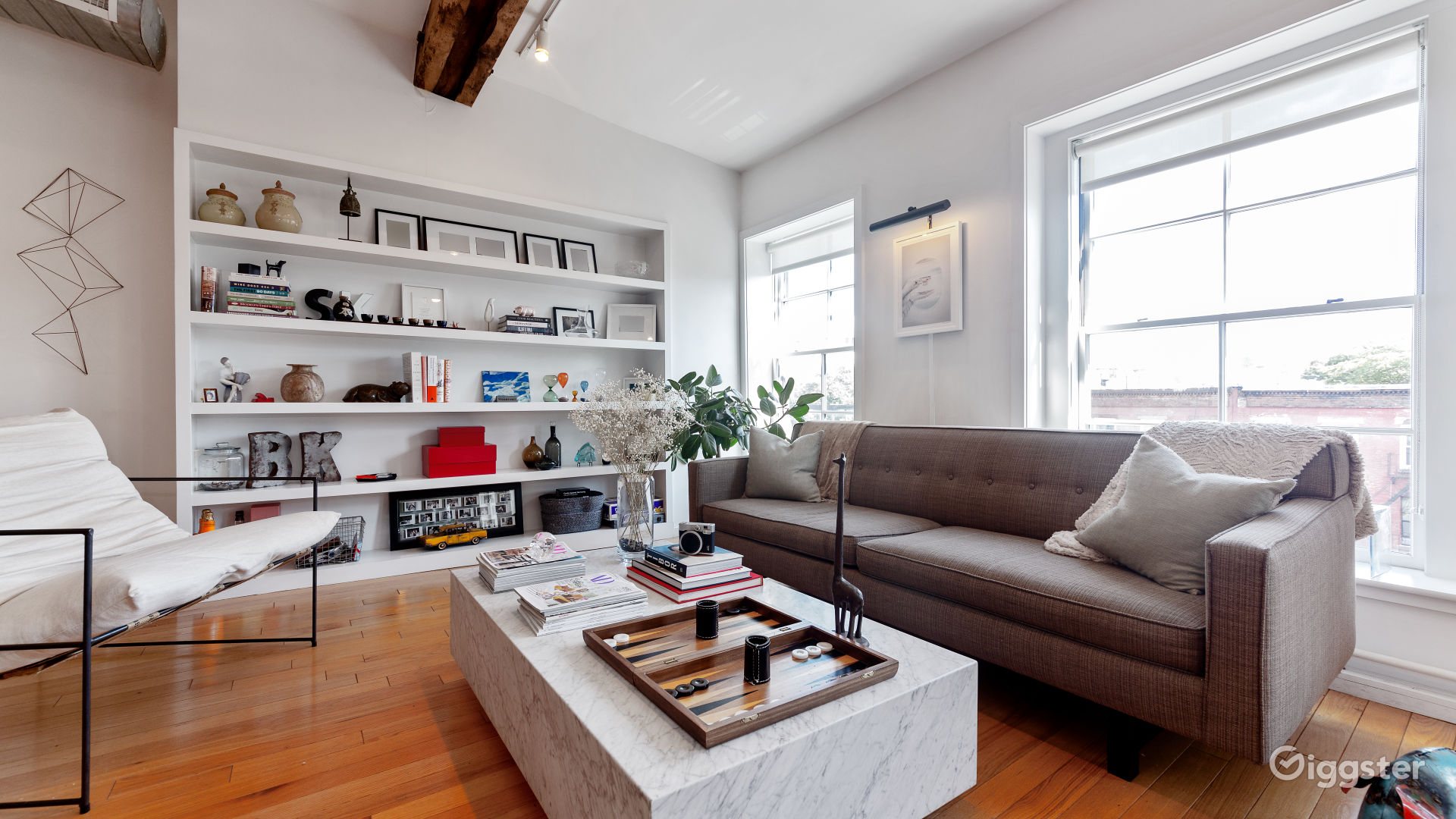 Massive loft space with exposed beams and exposed | Rent this ...