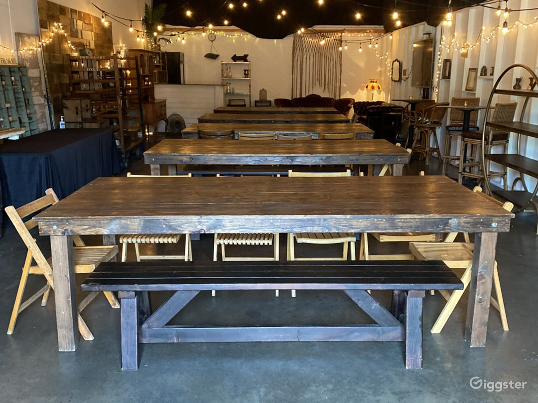 Vintage Rustic Farmhouse Tables