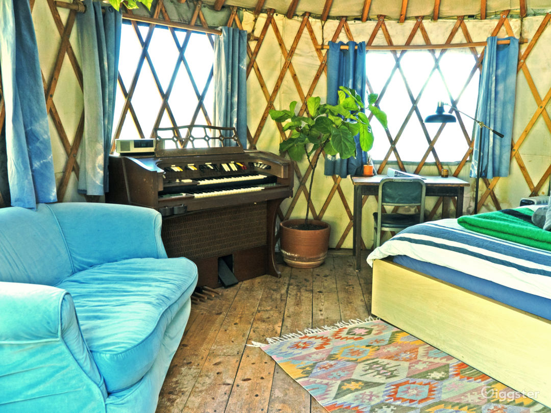 The Yurt interior.