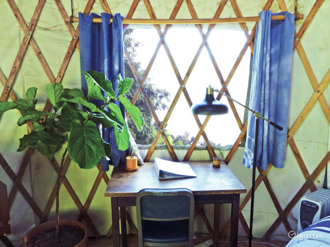 The yurt writing desk.