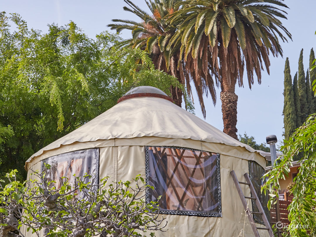 The yurt exterior.