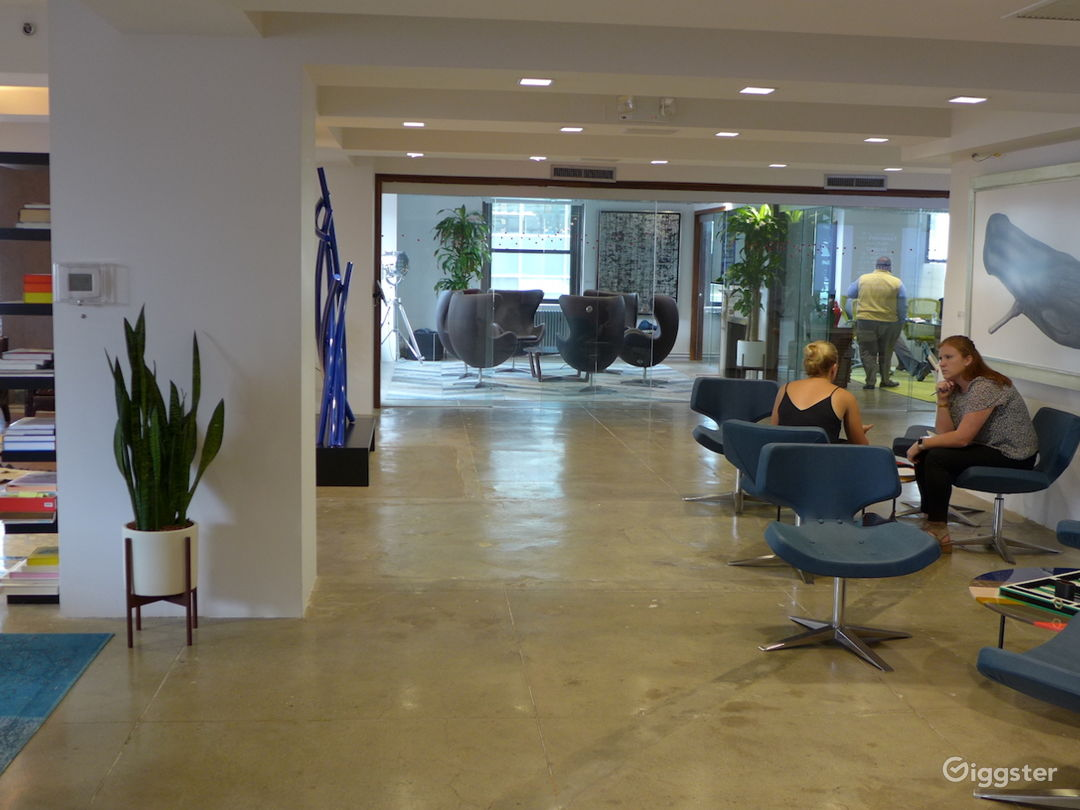 Colorful Open Floor Office w/ Terraces and Bar Photo 2