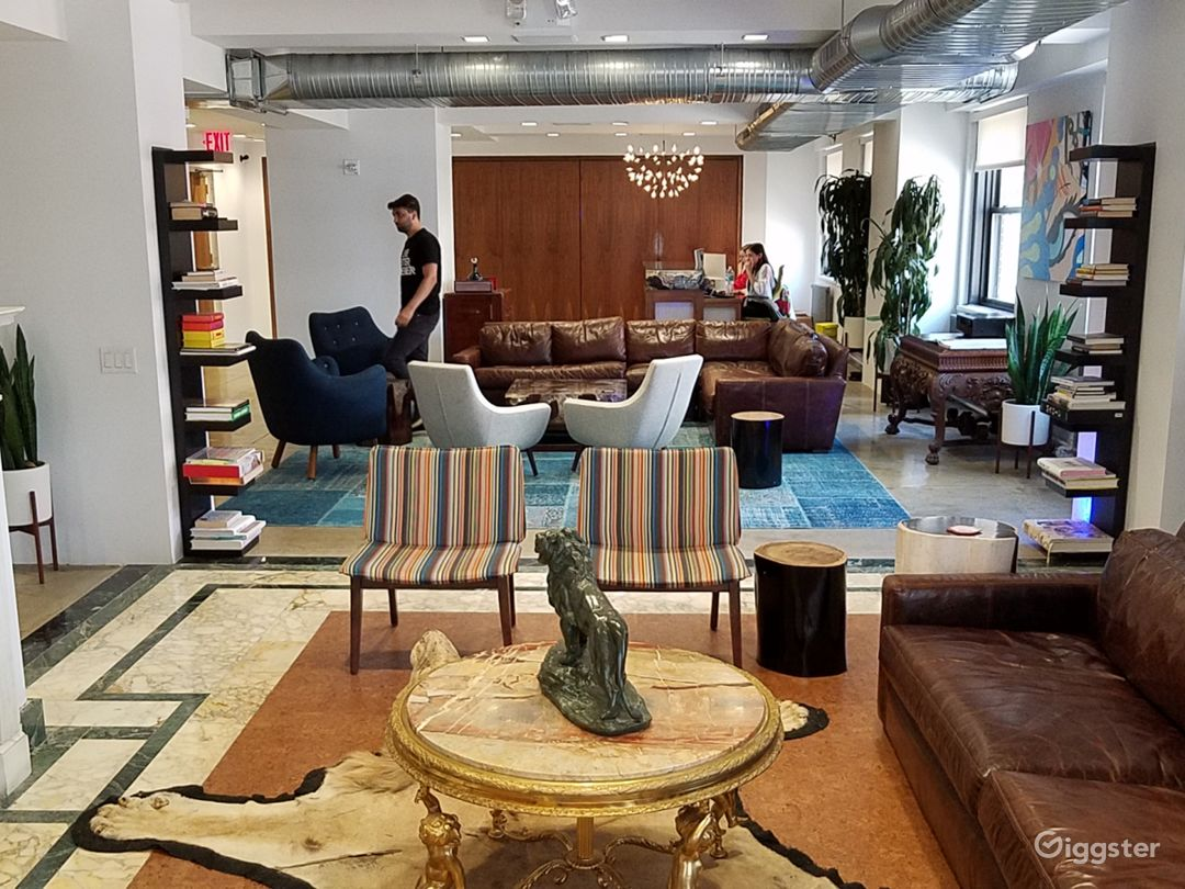 Colorful Open Floor Office w/ Terraces and Bar Photo 5