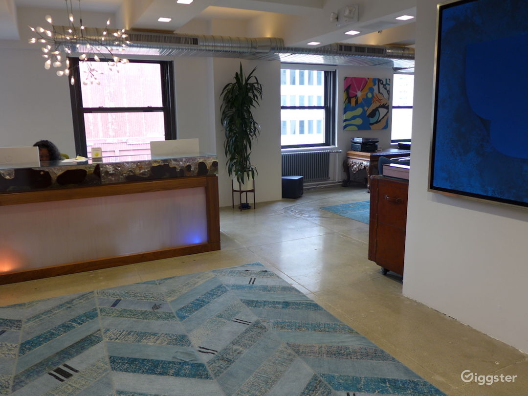Colorful Open Floor Office w/ Terraces and Bar Photo 4