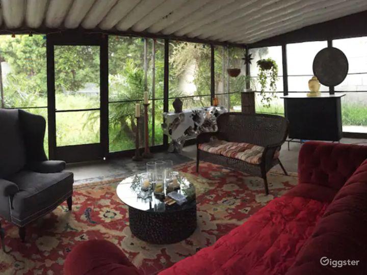 Enclosed Living Room Scene / Patio