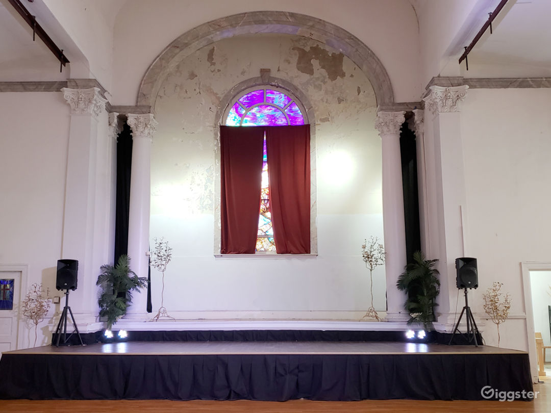 Here is our stage  located in the main room.