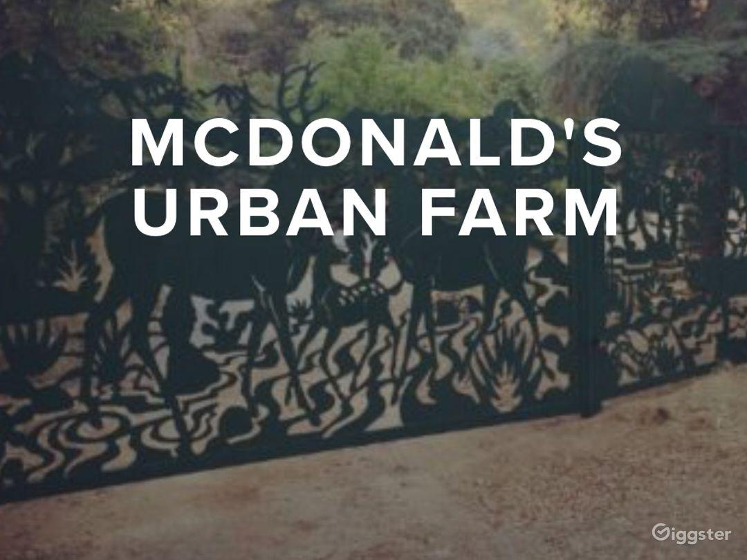 Front gates to McDonald's Urban Farm