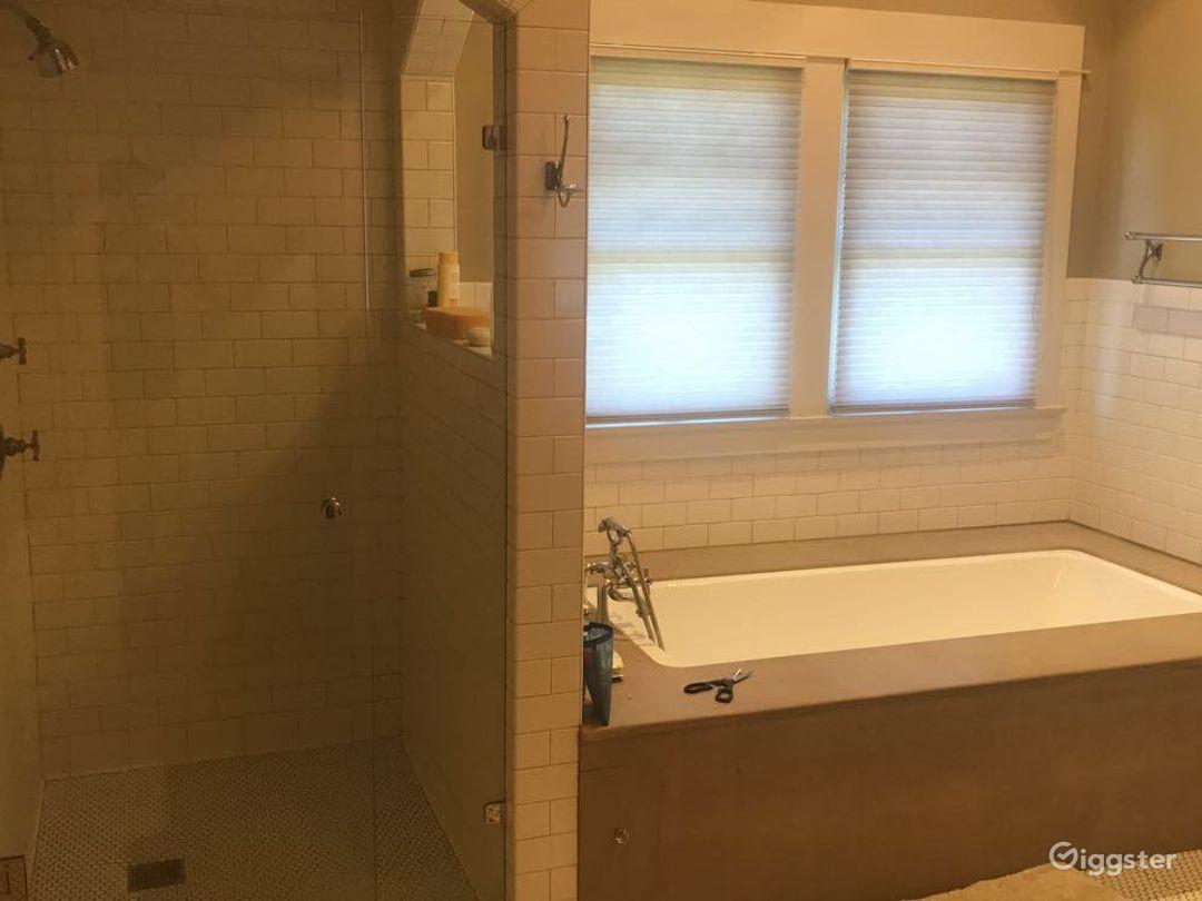 Master bathroom with sauna, jacuzzi, the works