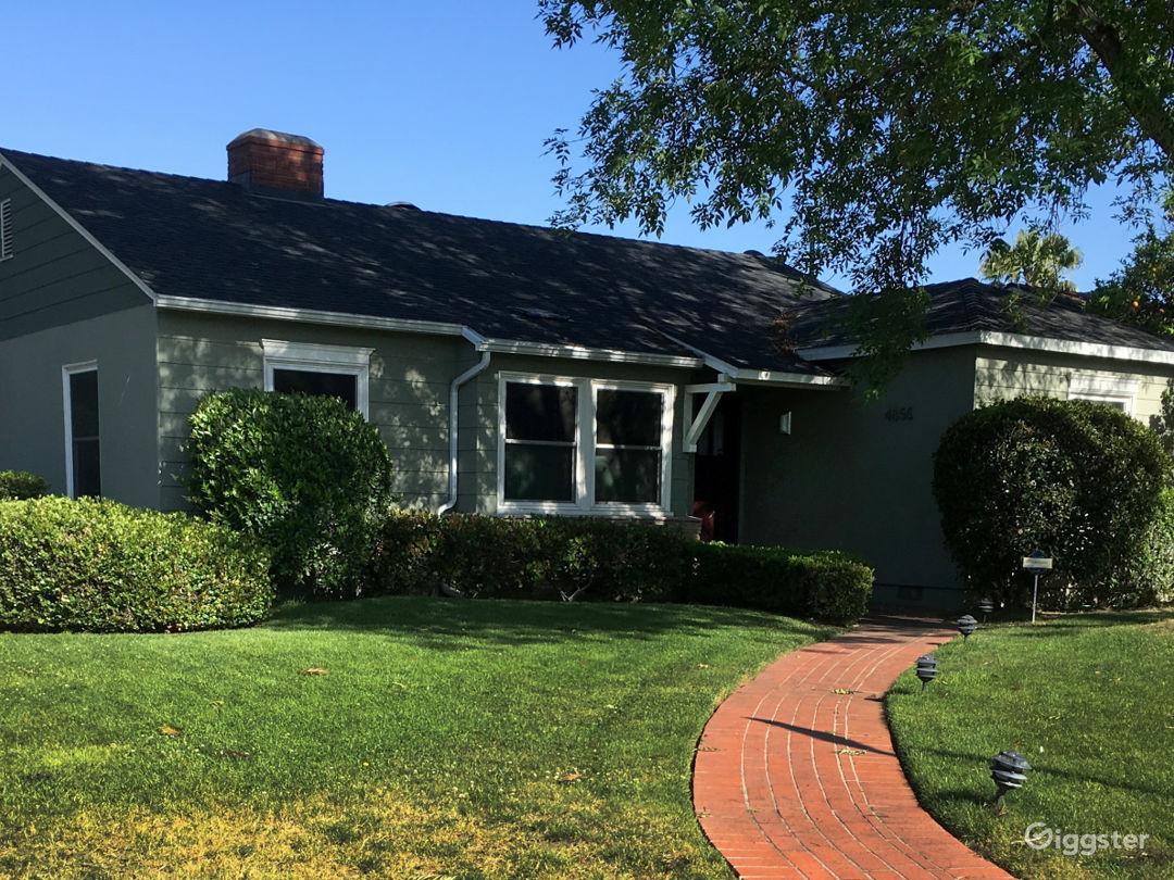1941 Cottage, front yard, corner lot
