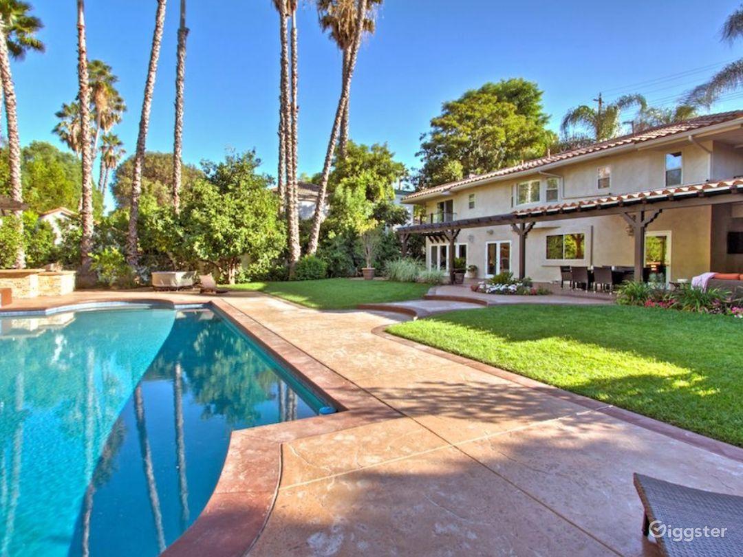 Backyard extra large pool