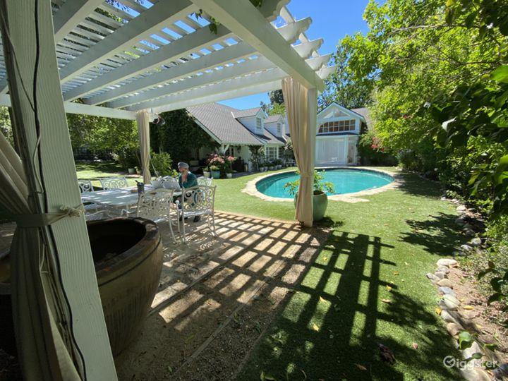 Backyard - pergola & pool