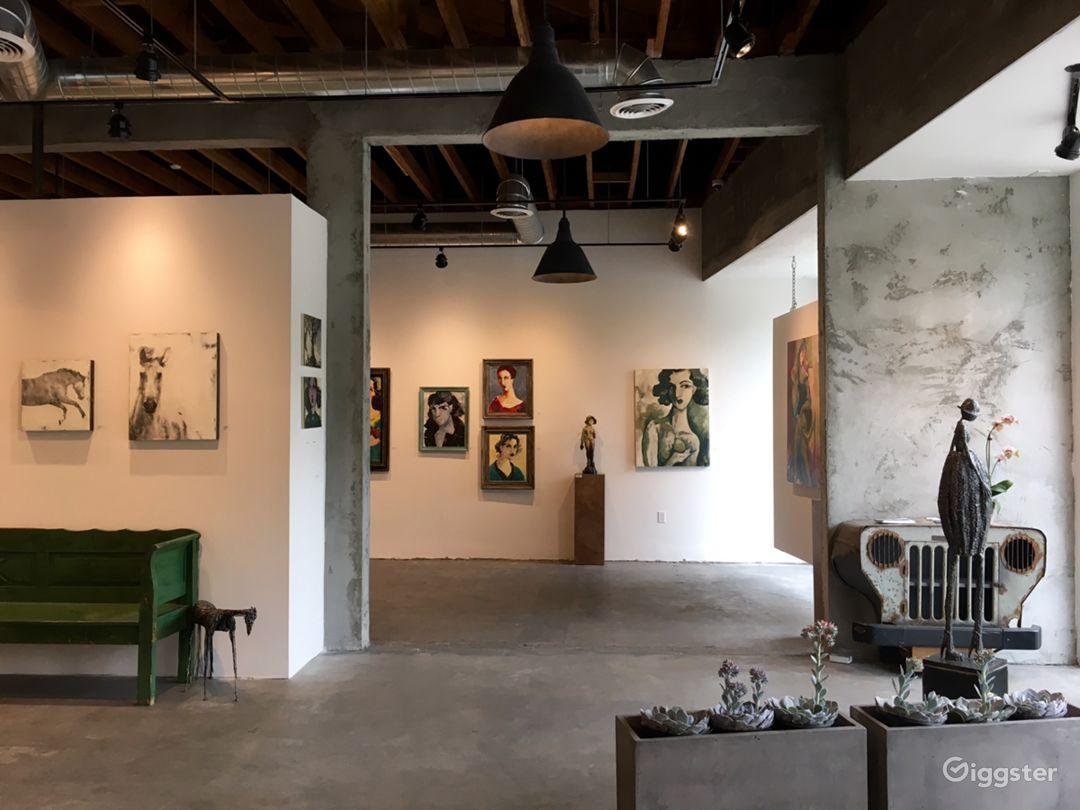 Spacious Industrial Vintage Inspired Gallery Space Photo 2
