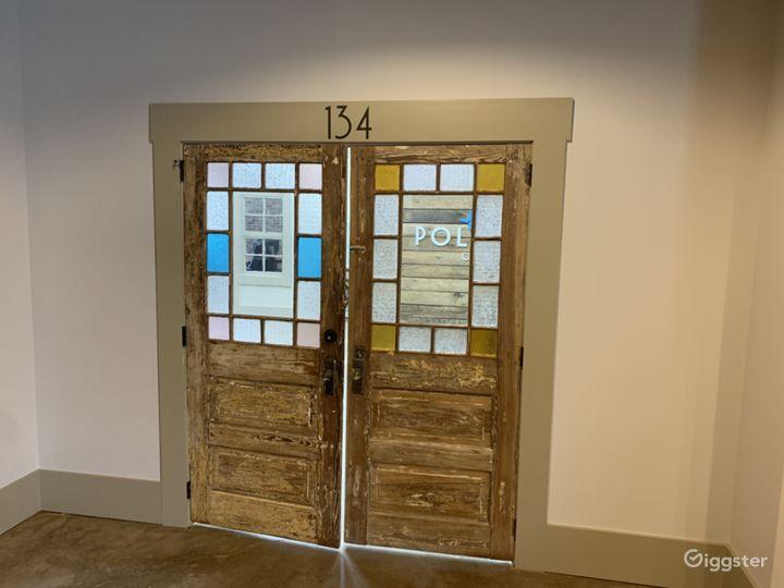 Vintage entry doors