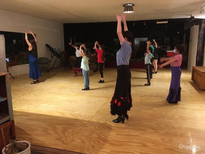 Dancers using the studio.