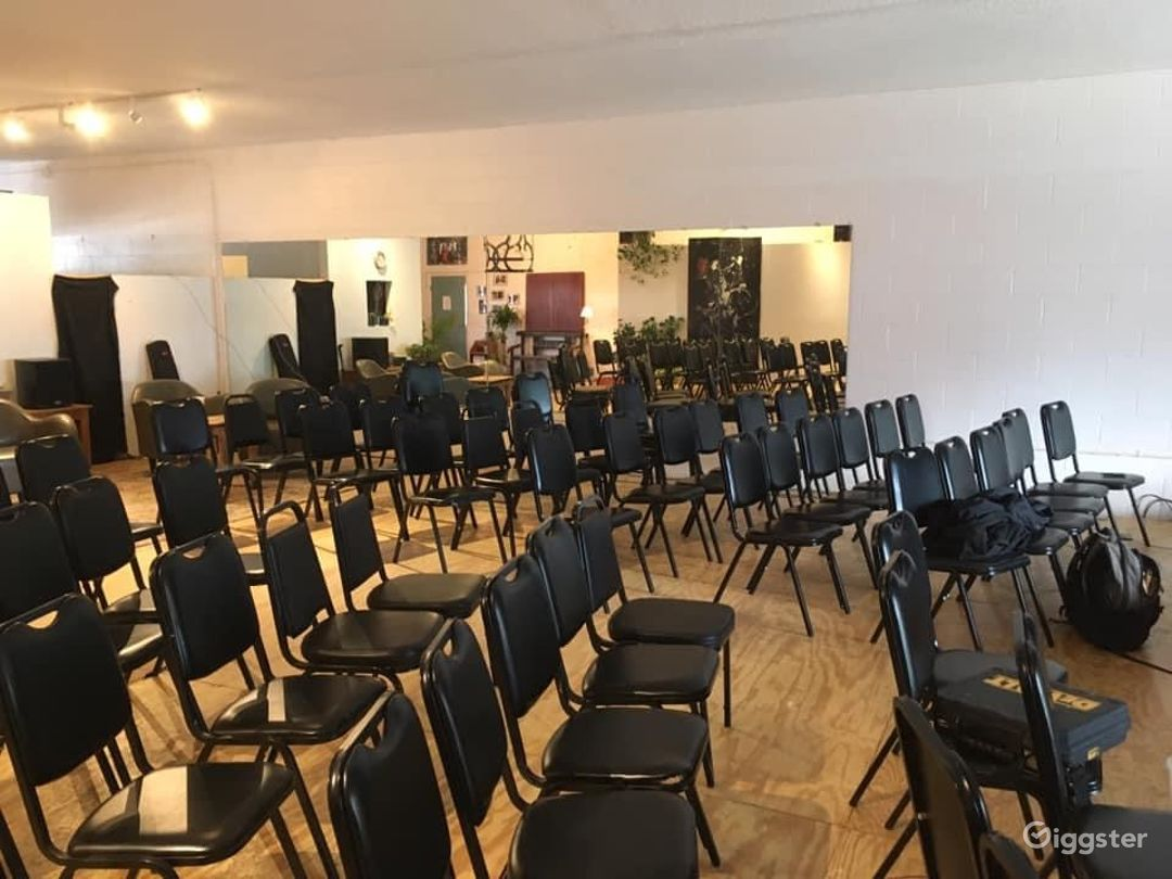 Theater seating set up. We provide chairs.