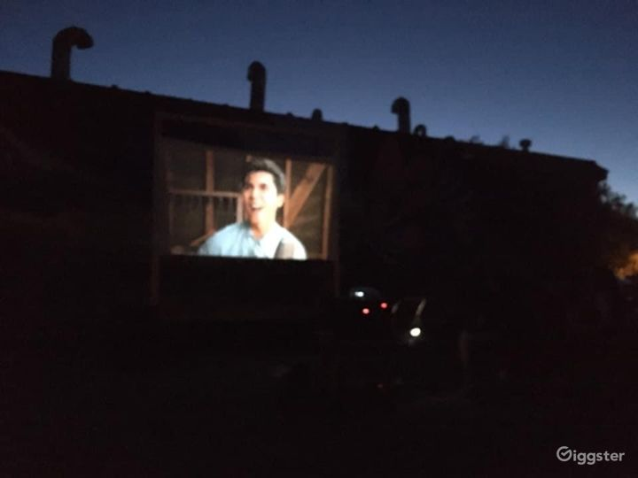 We have a outdoor space as well where we can do large movie nights and/or performances.