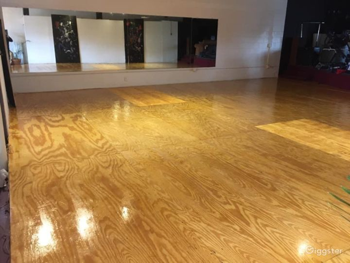 Dance studio can be used for many different kinds of events.