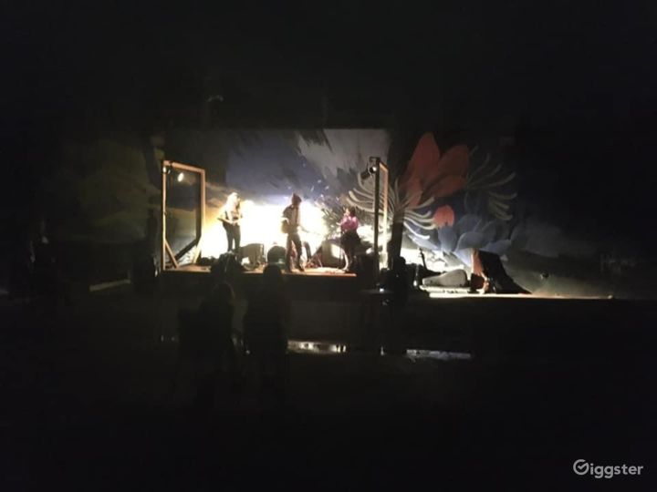 Outdoor performance in our space.