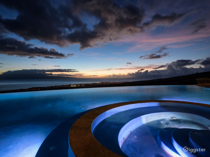 Sunset, smart app functionality with pool, misters, spa and lighting
