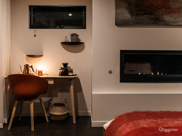 Igniting Space with Fireplace & Private Patio - Fire Room Photo 2