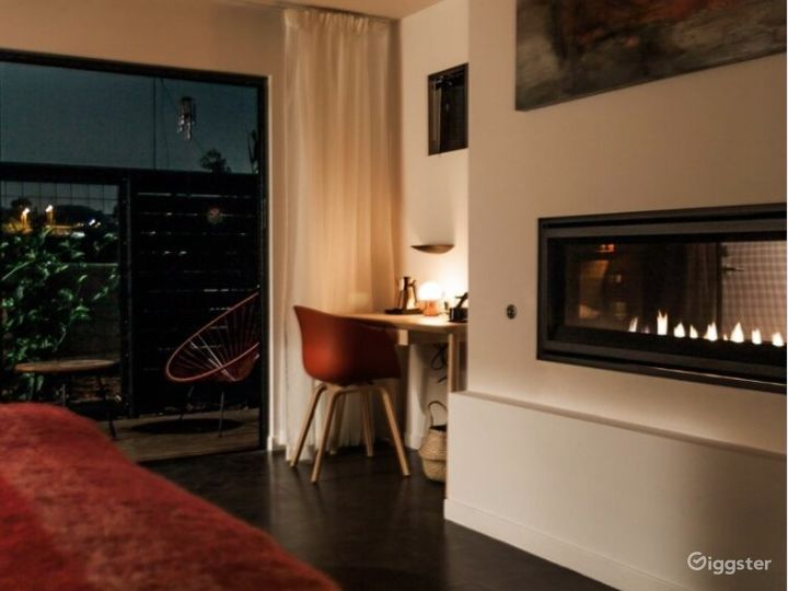 Igniting Space with Fireplace & Private Patio - Fire Room Photo 3