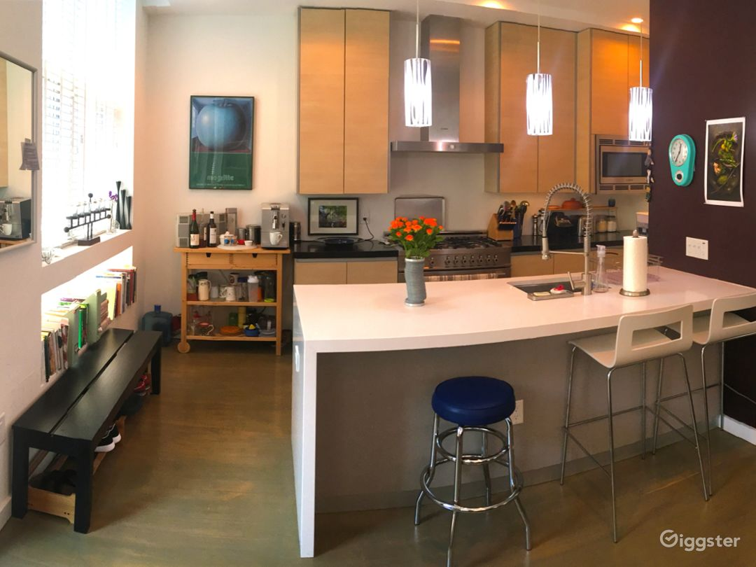 Chef's kitchen with state of the art modern appliances