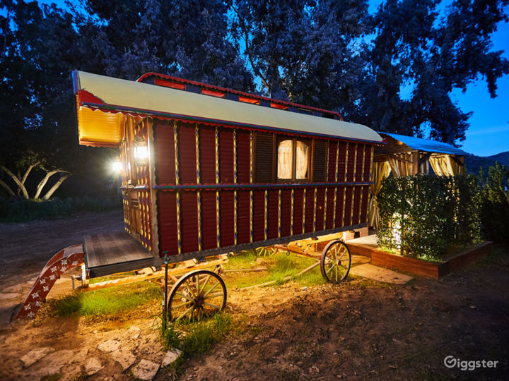 The Gypsy Wagon Compound in Topanga with Views