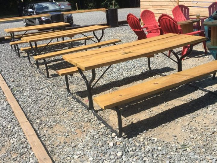 Perfect Patio with Picnic Tables Photo 3