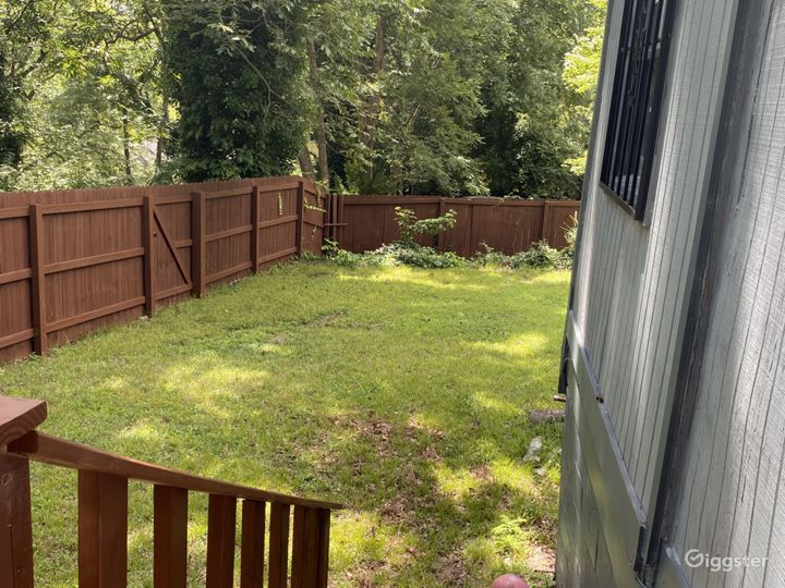 View of back yard from deck