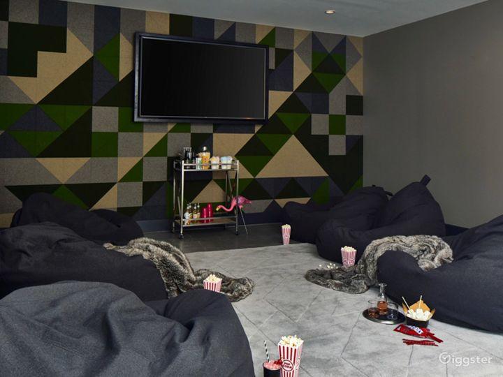 Media Room set for Movie Night