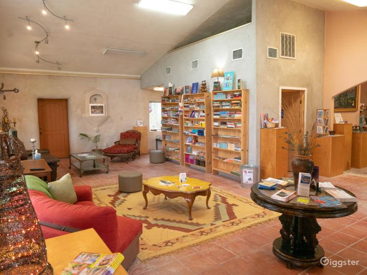 Inside doors into Coffee Book Lounge
