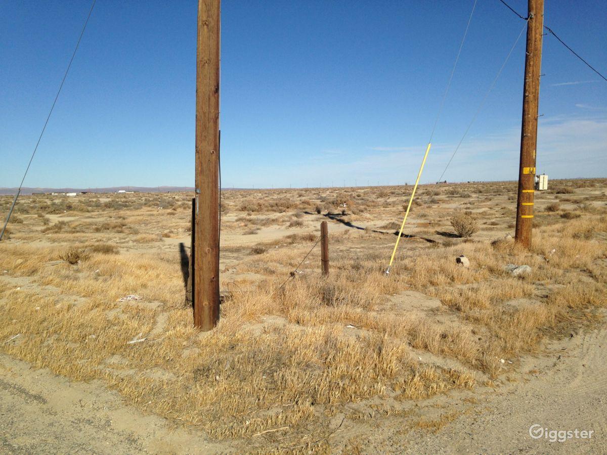 Desert-telephone poles, infinite road