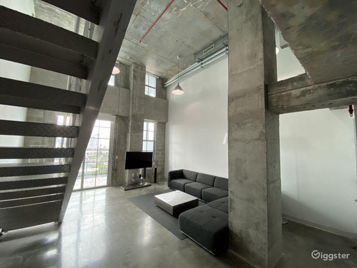 Huge concrete Loft with stunning views