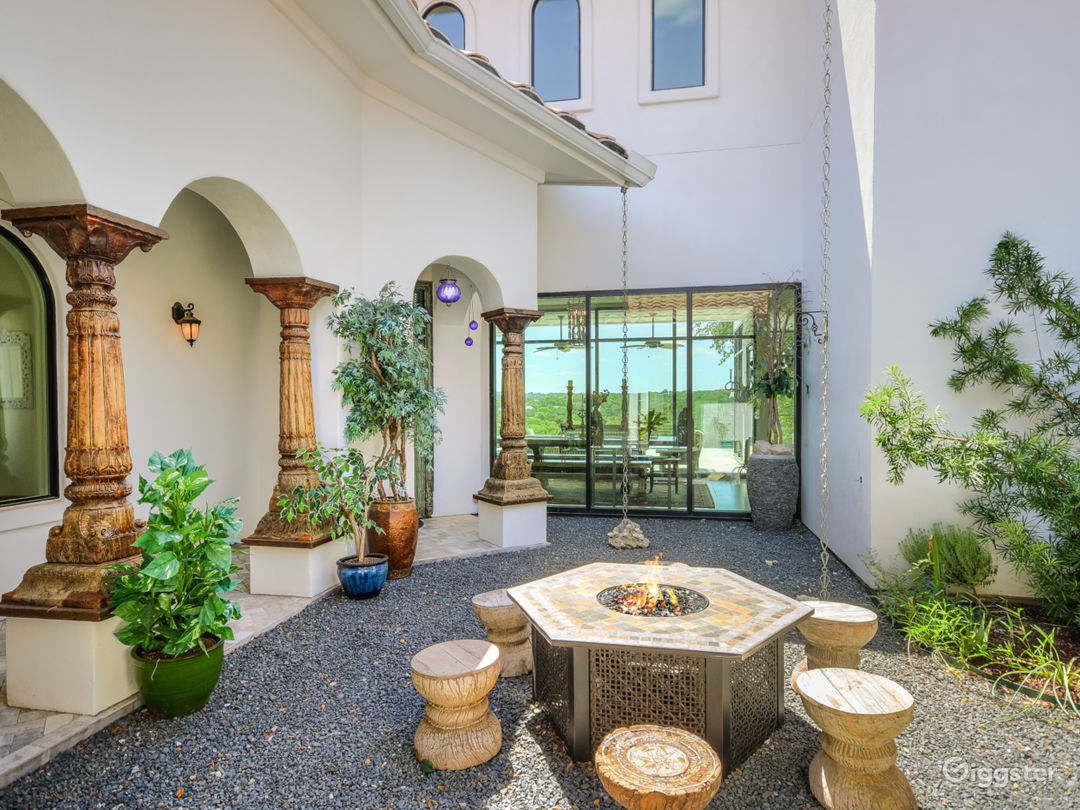 Courtyard view with firepit