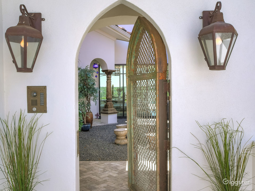 Door to courtyard to access the home.