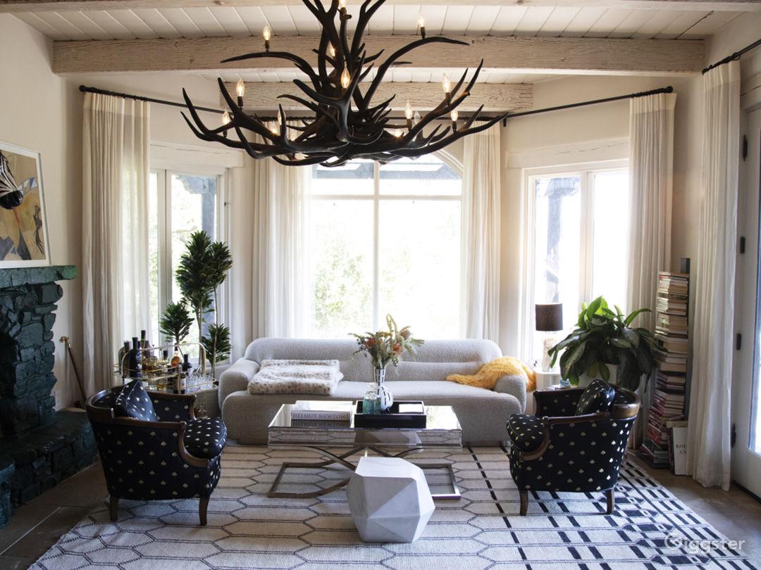 livingroom, part of kitchen space