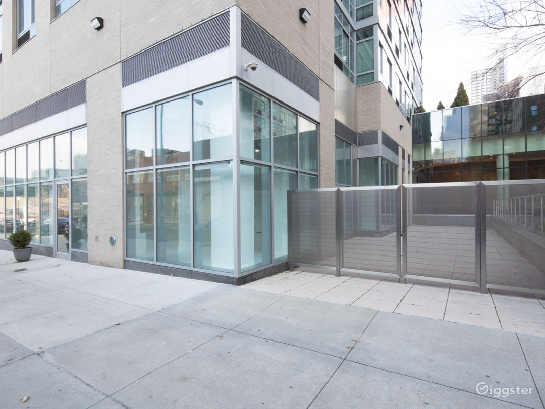 White Studio Space with floor to ceiling windows  Photo 2