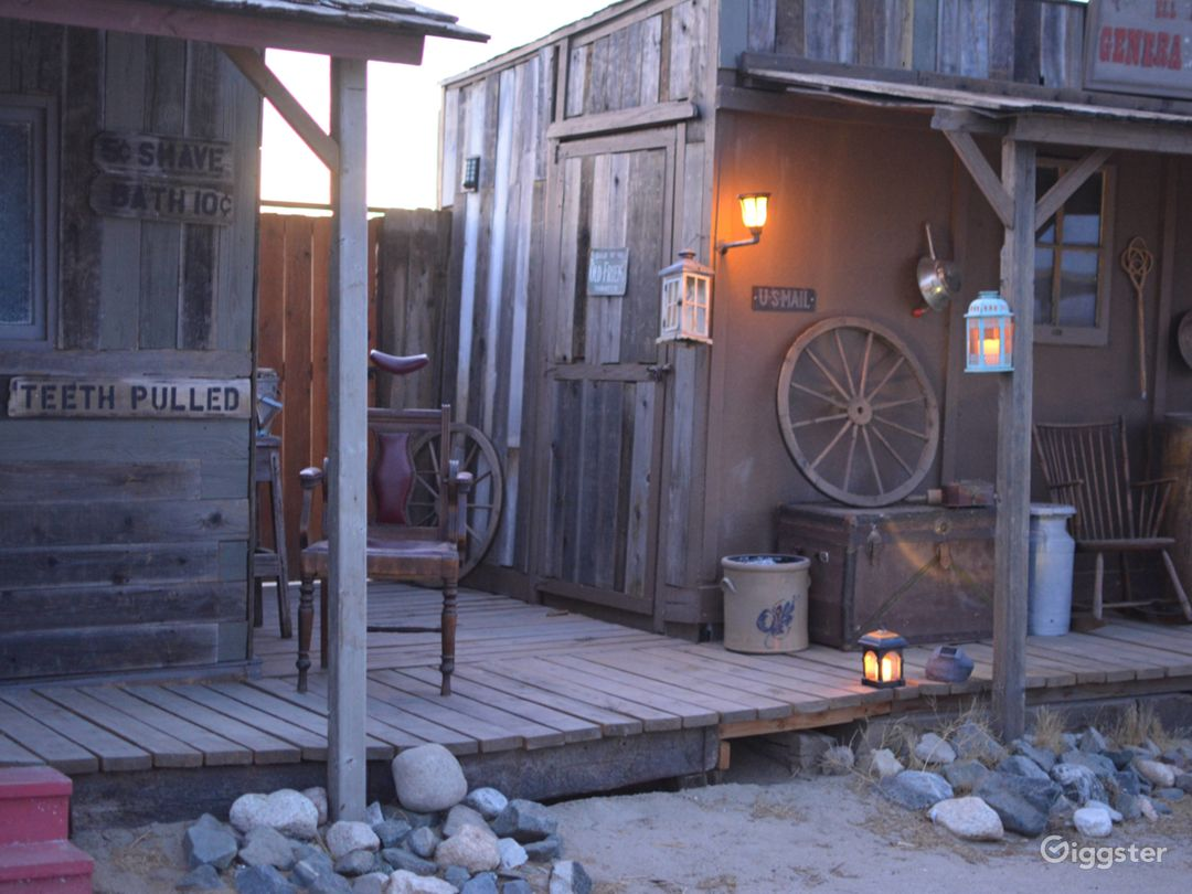 Old West Western Style Cowboy Town Photo 2