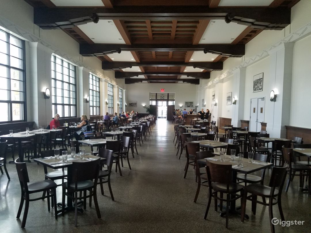 Historic landmark building, once the Marine Dining Hall, now The Landing at Jones Beach. Designed and built by Robert Moses, opened in 1931, meticuloisly renovated and restored to original spec and design.