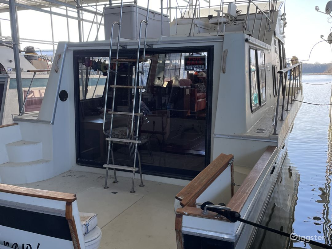 1979 Bluewater Intercostal is a 41' ocean vessel with a large salon, bridge and sleeping area below deck.