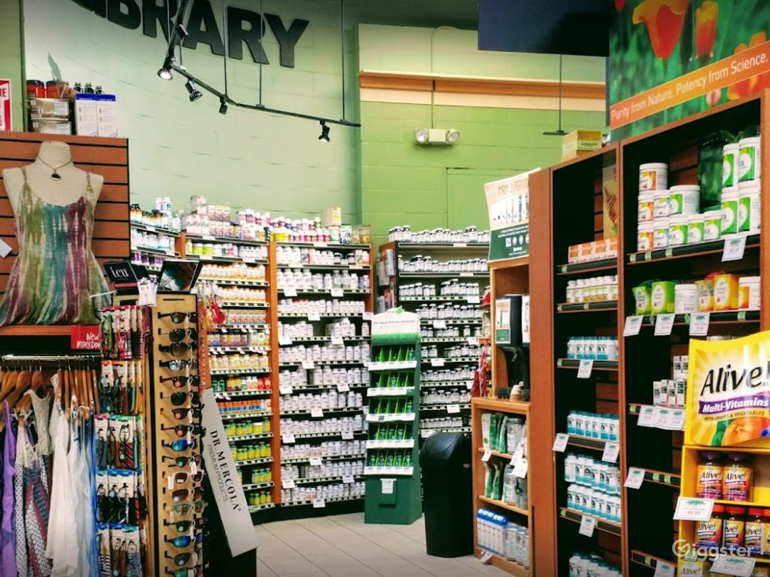 Spacious Health Food Store Perfect for Photoshoots and Productions in Ventura Photo 1
