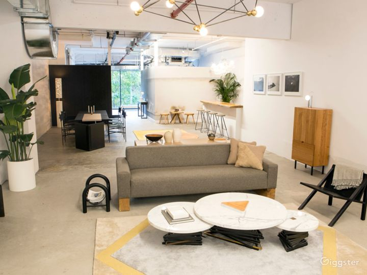 Contemporary, Light Filled Showroom Space