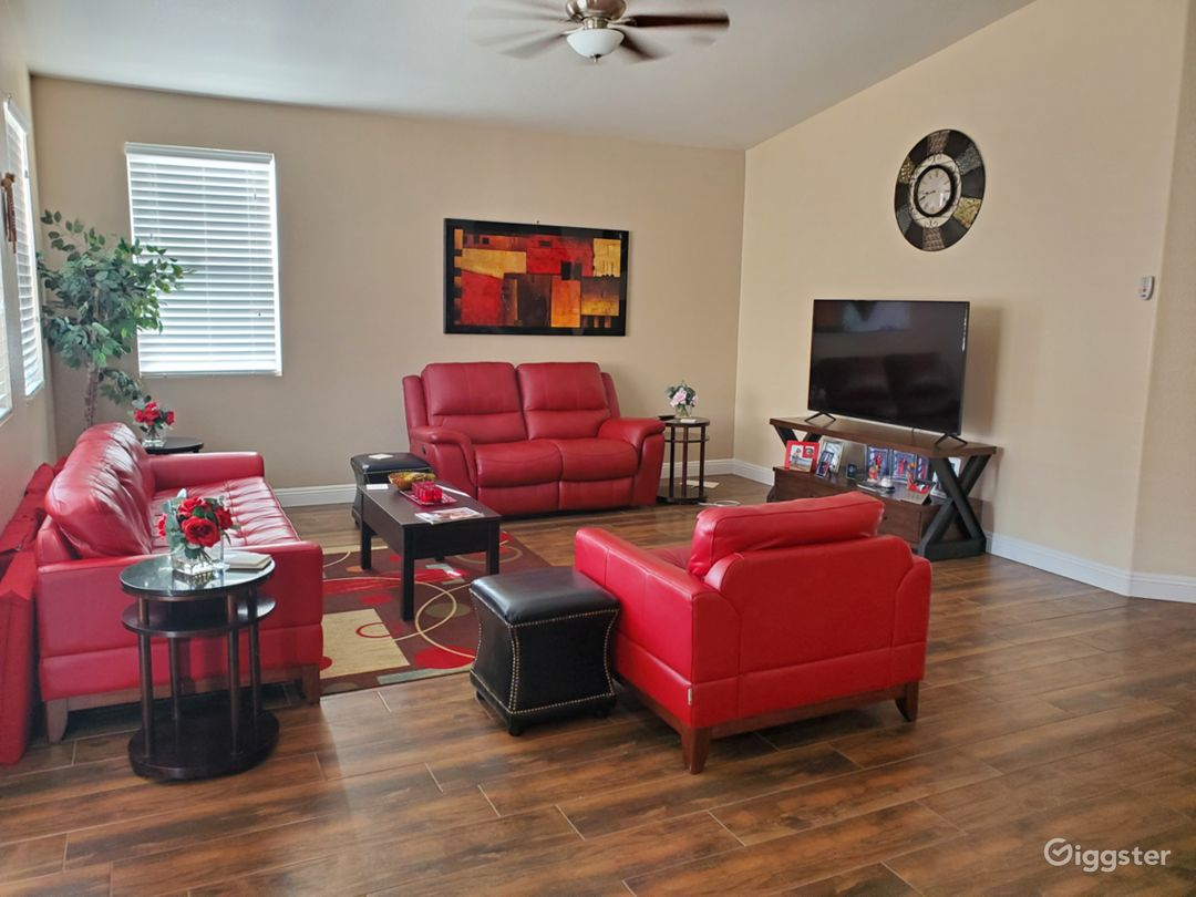 Great open floor plan for any event.  Three bedroom home with spacious rooms and backyard.