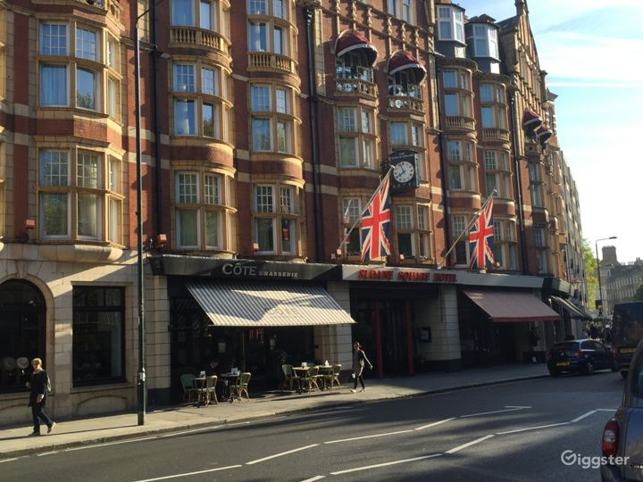 Front of the Hotel from Sloane Square